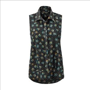 CAbi Whimsy Blouse Midnight Bouquet XL